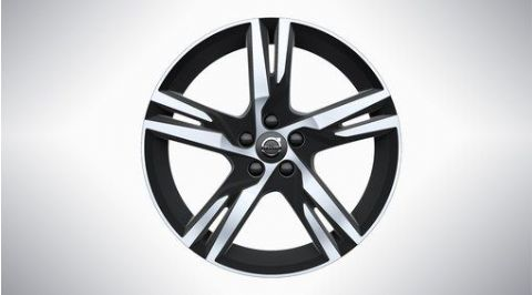 "XC60 19"" 5-Double Spoke Matt Black Diamond Cut Alloy Wheel"